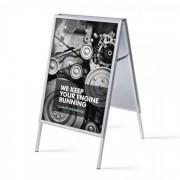 Jansen Display Reklamní áčko 700x1000mm, ostrý roh, profil 32mm, metalová záda