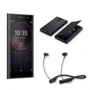 Sony Accesorio Xperia XA2 (Paquete Incluye: 1 Xperia XA2 Negro, 1 SBH90C Auriculares Bluetooth Negro, 1 Funda con Tapa)