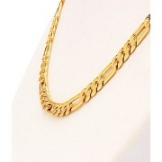 Sachin Design Men's Chain 24k Gold Plated (22 inch 10gm 6mm) With Surprise Gift And 1 Year Warranty