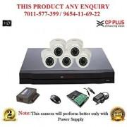 Cp Plus 1 MP 8CH HD DVR + Cp plus HD DOME IR CCTV Camera 5Pcs + 1TB HDD + POWER SUPLAY + BNC + DC PIN