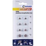 Set 10 baterii buton alcaline, Conrad energy