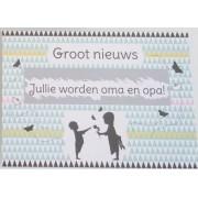 Kraskaart - Jullie worden Opa en Oma! - Nordic silouette Groot nieuws!