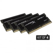 Kingston 16GB DDR4-2133MHz SODIMM CL14 HyperX Impact Black Series (4x4GB)