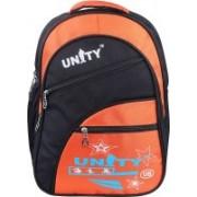 UNITY BAGS Polyester School Bag |Shoulder Backpacks | Casual Bag for Girls & Boys 35 L Backpack(Black, Orange)