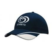 Headwear Professional 6 Panel BHC Cap W/Peak Mesh Inserts 4058
