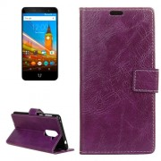For Wileyfox Swift 2 Retro Crazy Horse Texture Horizontal Flip Leather Case with Holder & Card Slots & Wallet & Photo Frame (Purple)