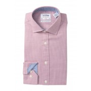 TM LEWIN Arrow Twill Fitted Dress Shirt RED