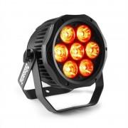 Beamz Professional BWA410, LED PAR, 7 x 10 W 4 в 1 светодиоди, RGBW, водоустойчив, черен (150.758)