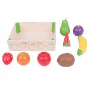 Cutiuta cu fructe din lemn