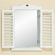 Boltze Zrcadlo okno vintage, bílé