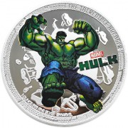 Marvel Avengers Hulk Iron Man Silver Plated Coin in Capsule Box