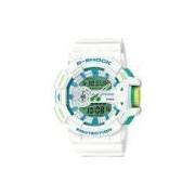 Relógio Casio G-Shock Anadigi Ga-400wg-7adr Branco/Verde