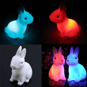 Hotsale Color Changing Rabbit Led Night Light Dimmable for Children Baby Kids Gift Animal Cartoon Decorative Lamp