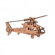 reptum decor wooden helicopter with burning effect for home decor and play for kids