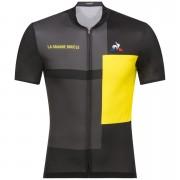 Le Coq Sportif Tour de France 2018 La Grande Boucle Jersey - Black/Yellow - S - Black/Yellow