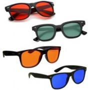 Elligator Wayfarer Sunglasses(Red, Green, Orange, Blue)