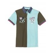 bpc selection Pikéskjorta med colour blocking-effekt, normal passform