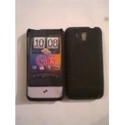 Черен силиконов твърд гръб за HTC Legend
