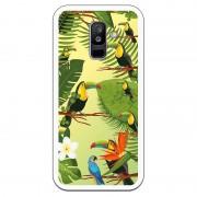 Unique Be Unique Funda Gel Tucanes Fondo Verde para Samsung Galaxy A6 Plus 2018