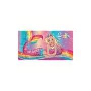 Toalha de Banho Infantil Aveludada Barbie Reino do Arco-íris - Lepper