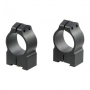"Warne Mfg. Company Maxima Grooved Receiver Line Tikka Rings - 1"""" Medium Matte Black Tikka Rings"
