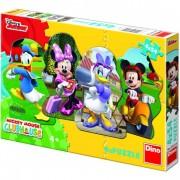 Puzzle 4 in 1 Mickey si prietenii 54 piese Dino Toys