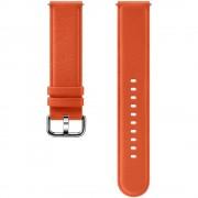 Curea piele Samsung Leather Strap pentru Galaxy Watch Active 2 / Galaxy Watch (42mm) / Gear Sport Orange