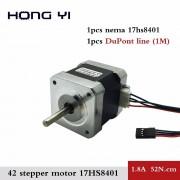 1 STKS 4-lead Nema17 Stappenmotor 42 motor 17HS8401 1.8A CE ROSH ISO CNC Laser en 3d-printer met DuPont lijn