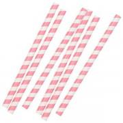 Pink Stribede Sugrør 20cm 10 Stk.