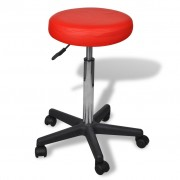 vidaXL Kancelářská stolička červená