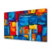 Tablou Canvas Premium Abstract Multicolor Culori Tari Decoratiuni Moderne pentru Casa 80 x 160 cm