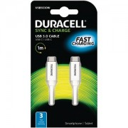 Duracell Type C to Type C Sync & Charge Cable 1M (USB5030W)