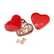 Cutie si bombonele in forma de inima