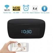 HITSAN inalámbrico reloj reloj de 1080p cámara IP WIFI Red CCTV HD monitor de bebé Control remoto seguridad para el hogar Visión Nocturna Audio de dos vías