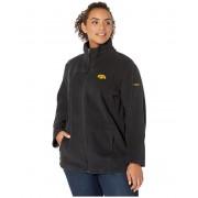 Columbia College Plus Size Iowa Hawkeyes CLG Give and Gotrade II Full Zip Fleece Jacket Black