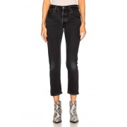 RE/DONE Levi's High Rise Ankle Crop in Black. - size 27 (also in 25,26,28,29,30,31,32)