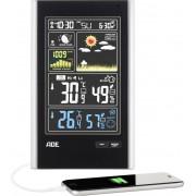 Staţie meteo wireless cu senzor de exterior ADE WS 1600, negru