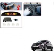 Auto Addict Car White Reverse Parking Sensor With LED Display For Nissan Sunny