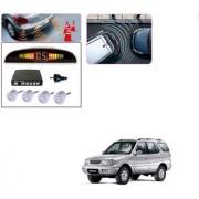 Auto Addict Car Silver Reverse Parking Sensor With LED Display For Tata Safari Dicor