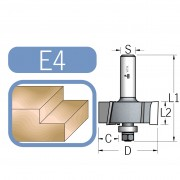 Glodalo za falc širine 9,5mm, radna dužina 12,5mm, prihvat 12mm (4 sečiva)