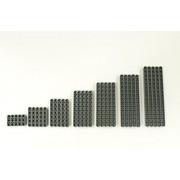 Lego Dark Bluish Gray Technic Liftarm Pack, 5 EACH 1x3,1x5, 1x7, 1x9, 1x11, 1x13, 1x15 (35 Total Pieces)