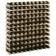 vidaXL Стойка за вино за 120 бутилки, масивна борова дървесина