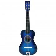 Simulación de guitarra de juguete 360DSC - Triangulación azul