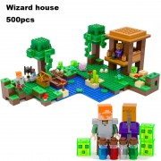 Model building kits compatible with lego 21133 18027 my worlds MineCraft The Witch Hut Educational toys hobbies for children