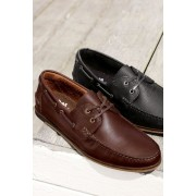 Next Smart Leather Boat Shoe - Brown - Mens