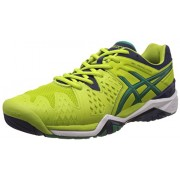 Asics Men's Gel-Resolution 6 Lime, Pine and Indigo Blue Tennis Shoes - 6 UK/India (40 EU) (7 US)