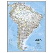 Wandkaart Zuid Amerika, politiek, 54 x 74 cm | National Geographic