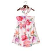 【68%OFF】フローラルプリント ギャザー ドレス ウェスタリーフローラルローズ xs ファッション > レディースウエア~~ワンピース