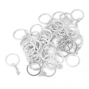 ELECTROPRIME® 50pcs 25mm Split Rings with Chains Silver Plated Key Chain Key Holder