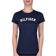 Tommy Hilfiger Tricou de bumbac de damă Cotton Icon ic Logo Tee Print UW0UW00091-416 Navy Blazer S